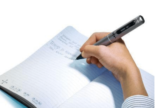 Figure 5 - LiveScribe Echo Pen taking notes