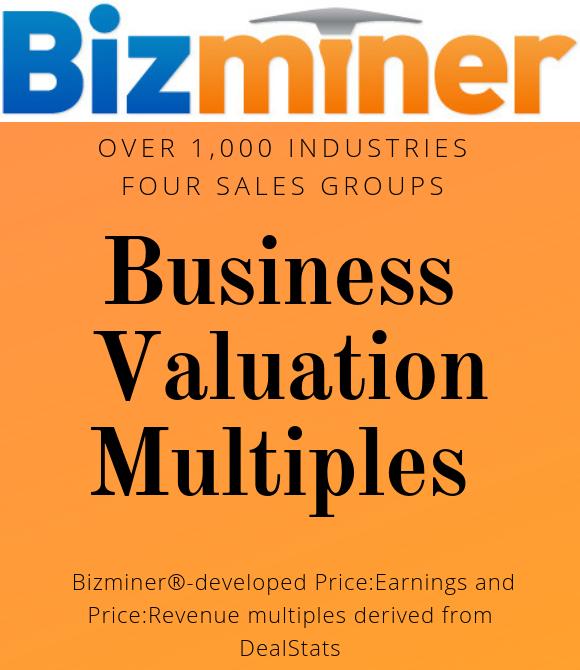 Bizminer Business Valuation Multiples