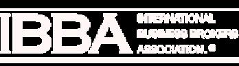 international business brokers association branding in white