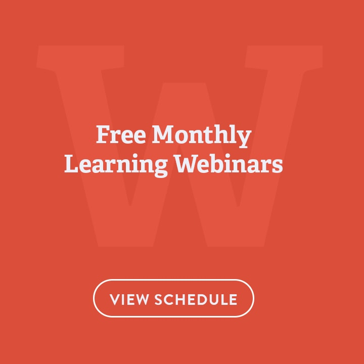 Free Monthly Learning Webinars!