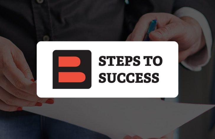 business broker mentoring another professional with steps to success overlay